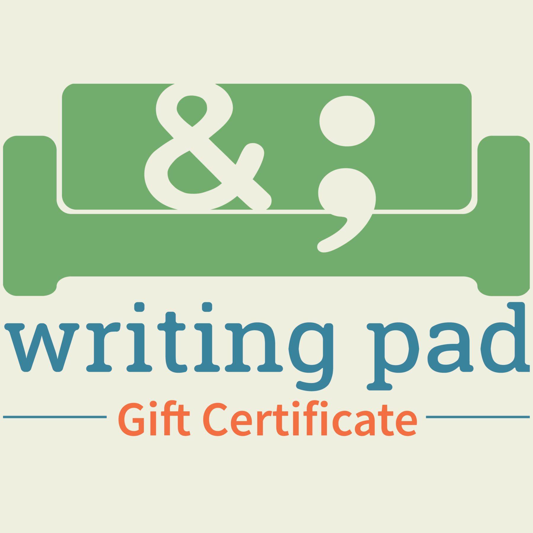 Writing Pad Gift Certificate Logo