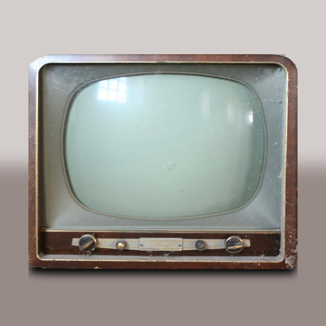 Photo of a vintage TV
